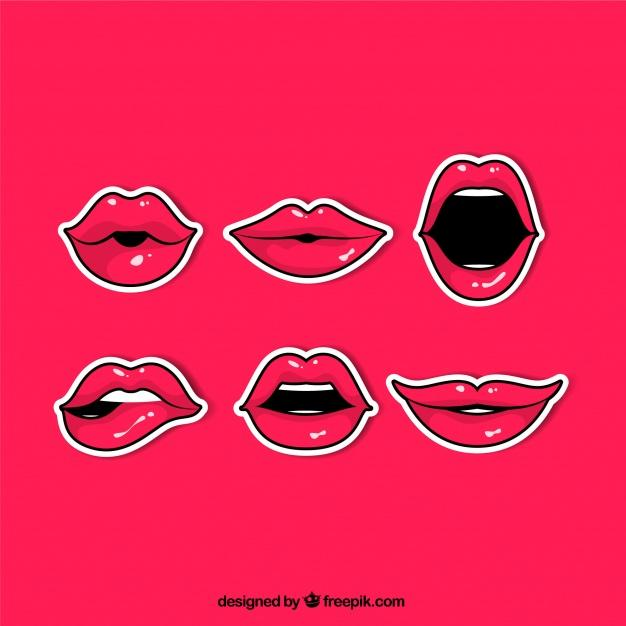 comic pack red lips stickers 23 2147681170